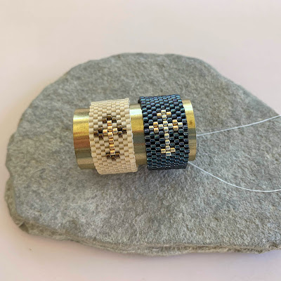 free odd count peyote ring instructions and pattern