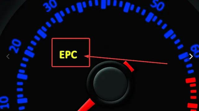 ماذا يعني رمز لمبة EPC في السيارة