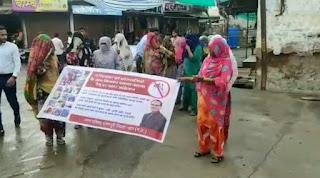 डेंगू वायरल के बचाव लिए माहअभियान को हरी झंडी दिखाई