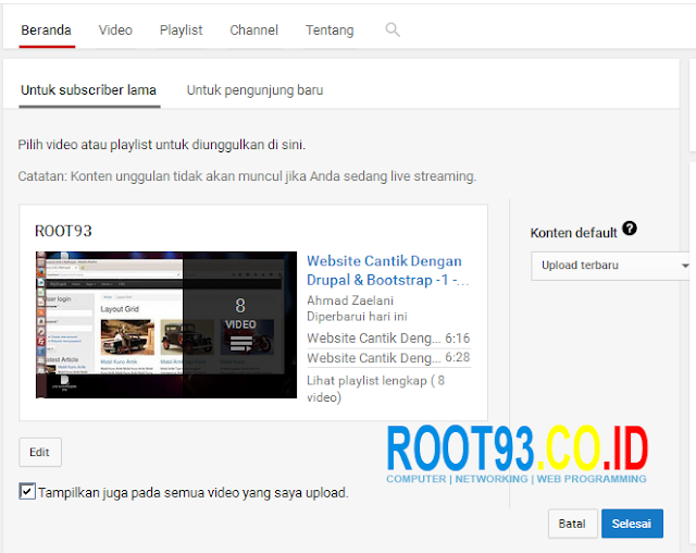 Mengatur Halaman Depan Channel Youtube 7