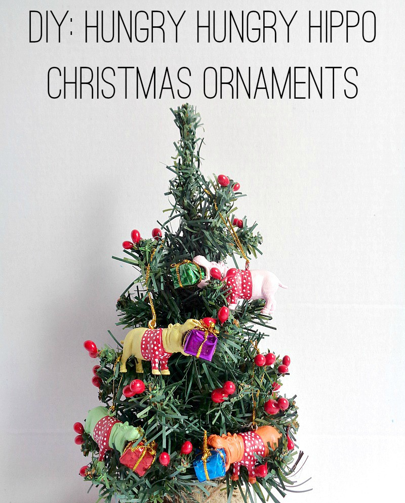 Running With A Glue Gun: DIY: Hungry Hungry Hippo Christmas Ornaments