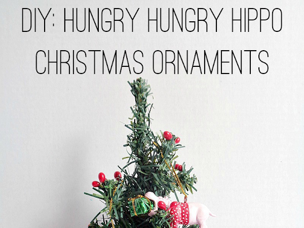 DIY: Hungry Hungry Hippo Christmas Ornaments