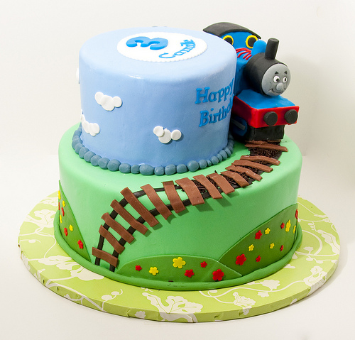 Thomas The Train Themed Birthday Cake For Young Kids