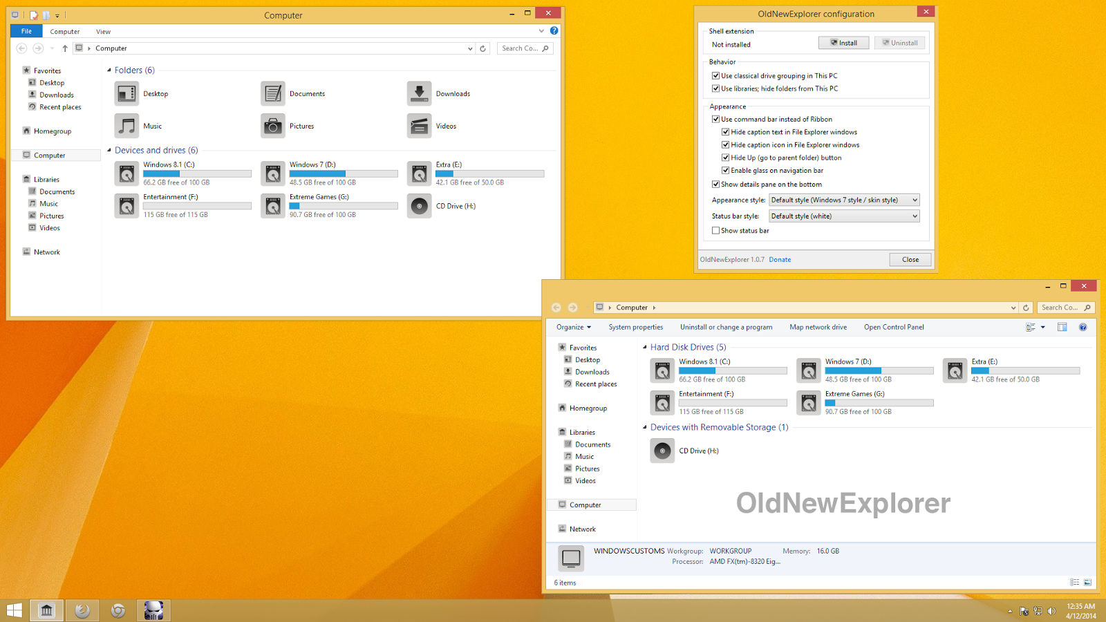 Windows Customs: How To Make Windows 8/8.1/10 Explorer ...