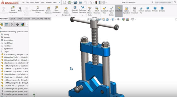 Solidworks tutorial | insert Bill of Materials (BOM) into a