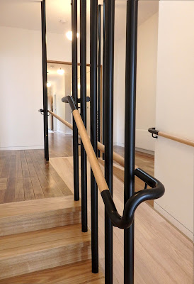 steel and timber handrail