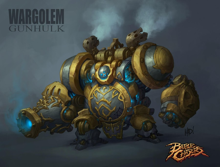battle chasers nightwar wargolem gunhulk concept art