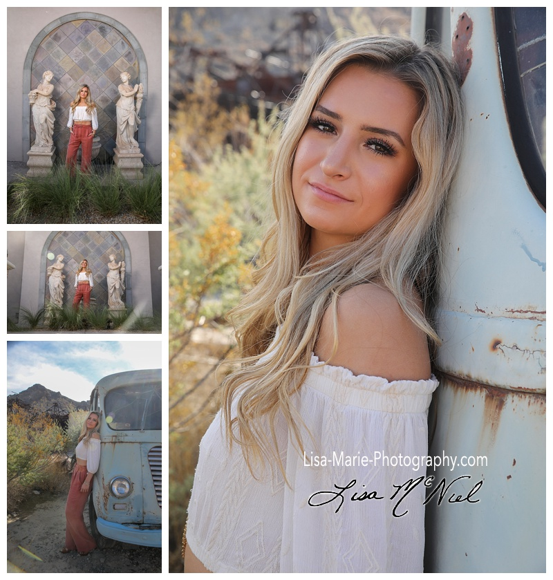 Senior pictures at Westin, and Nelson Ghost Town, Las Vegas Nevada