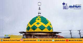 Pemasangan Kubah Enamel Lampung Barat