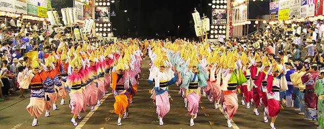 Awa Odori (Dance Festival), Naruto City, Tokushima Pref.