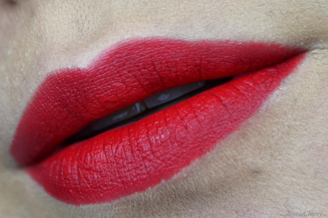Alverde Sortiment 2017 - Mat Lipstick Red Kiss - Rote Lippen