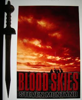 Portada del libro Blood Skies, de Steven Montano