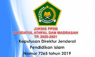 Juknis PPDB RA & Madrasah 2020-2021