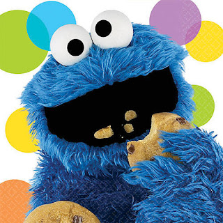 Cookie Monster party theme-great napkins to use!