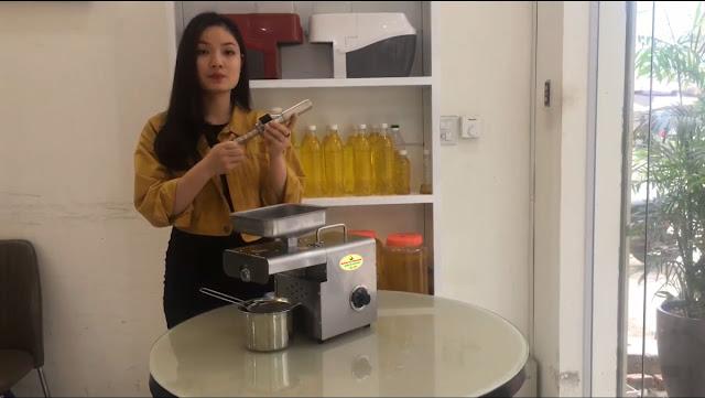 giới thiệu máy ép dầu ăn siêu sạch Thái Lan