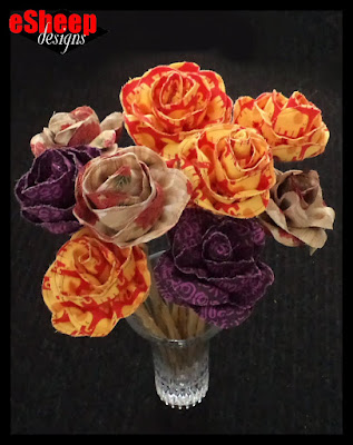 Fabulous Fabric Flowers crafted by eSheep Designs