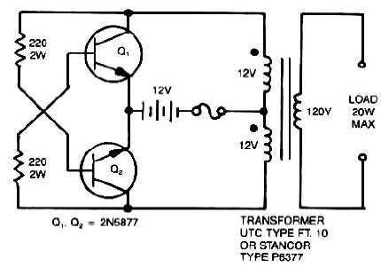 12V to 120V Voltage Inverter Circuit Diagram - The Circuit