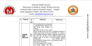 3006 Nursing Vacancies in Karnataka Sept October 2021
