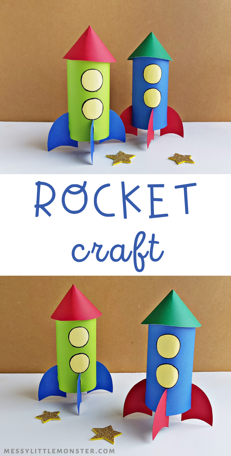 Paper rocket craft for kids.