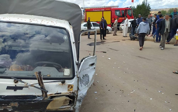 حادث مرور خطير بمفترق الطرق المدينة الجديدة بالشطية
