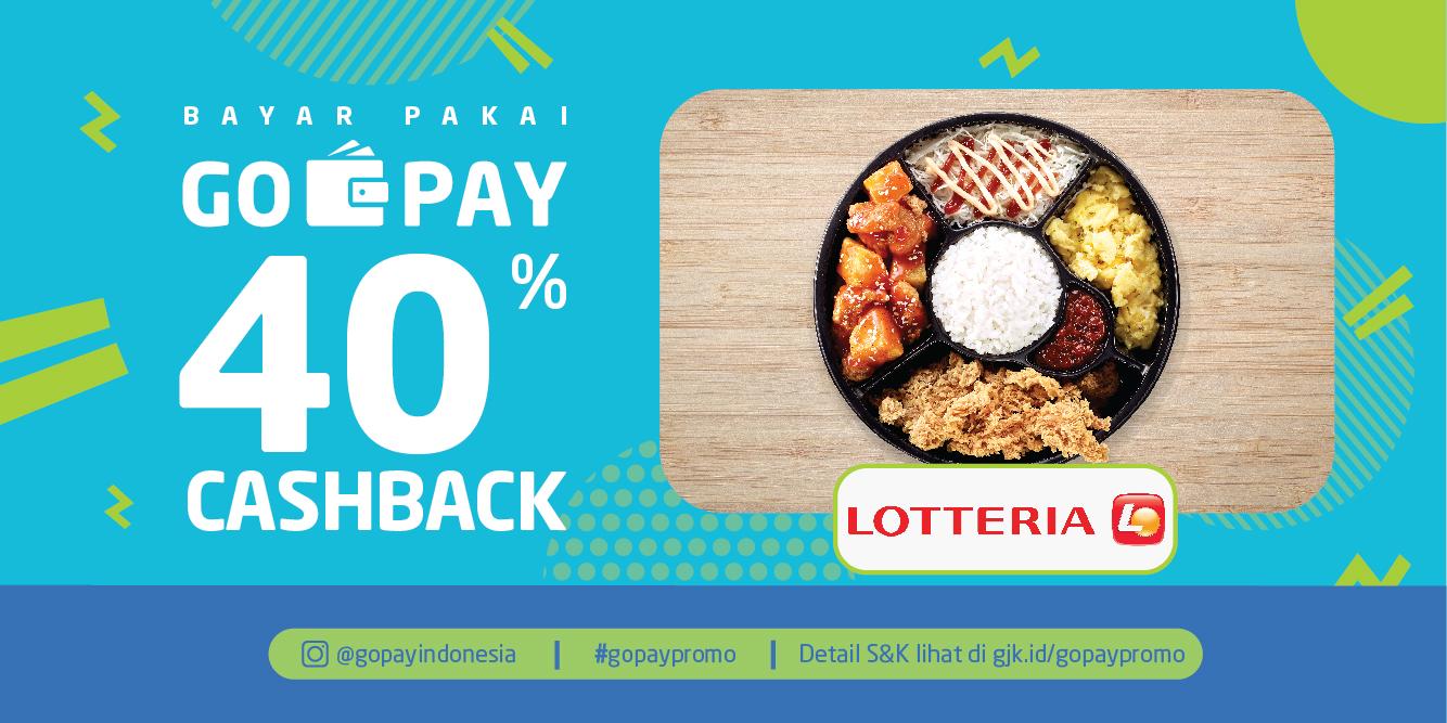 GOJEK - Promo Cashback 40% di Lotteria Bayar Pakai GOPAY (s.d 13 Sept 2018)