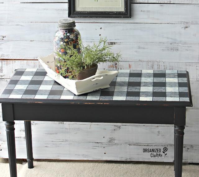 Garage Sale Upcycled Buffalo Check Piano Bench