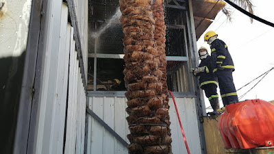 شرارة لحيم تشعل حريق داخل مؤسسة العين الخيرية في الكوفة بالنجف الاشرف