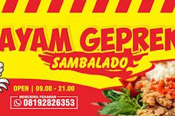 Download Template Banner Ayam Geprek CDR