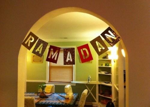 Dekorasi Ramadhan Gantungan Kertas Sederhana