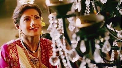 फिल्म 'बाजीराव मस्तानी' के एक दृश्य में प्रियंका चोपड़ा