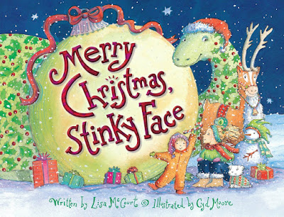 Merry Christmas, Stinky Face, part of Favorite Character Christmas Book Review List for Kids
