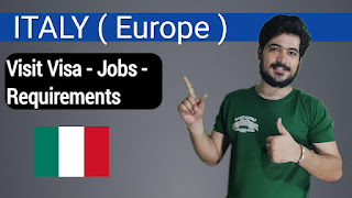 Italy Visit Visa Apply - Jobs And Requirements - Easy Steps For Apply