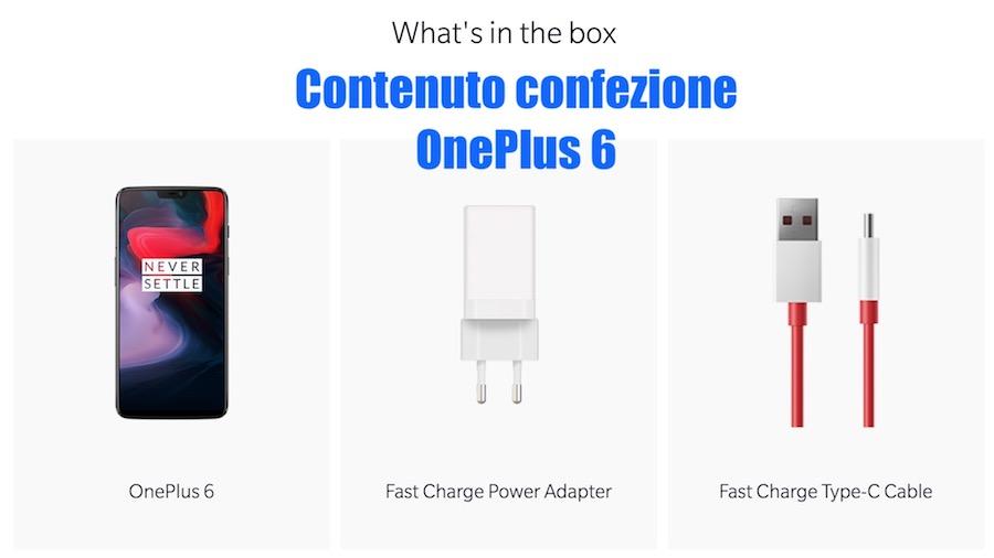 Contenuto Confezione OnePlus 6