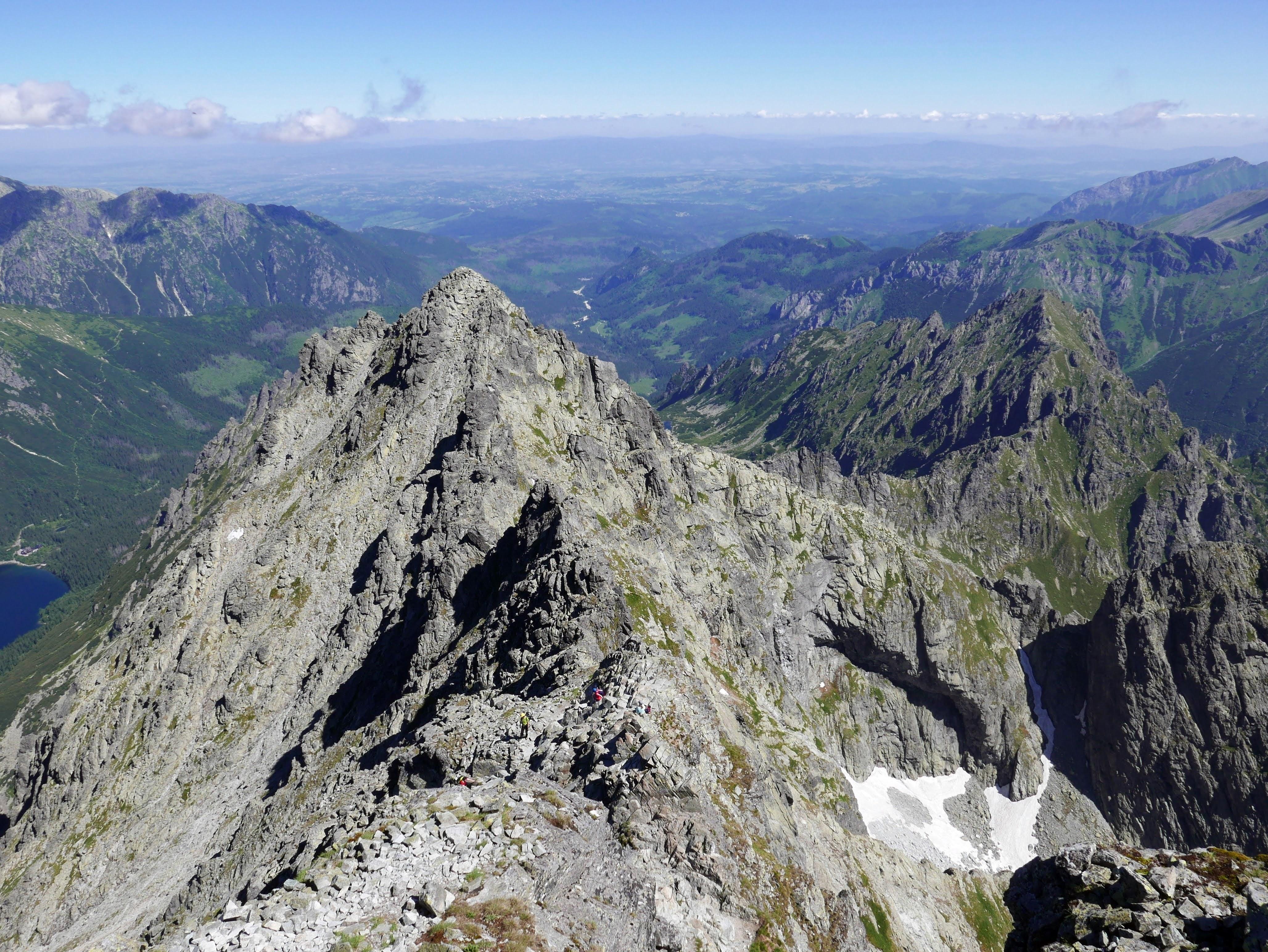Tatry Rysy panorama ze szczytu