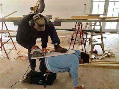 Lustige Bilder von der Baustelle - dumme Handwerker