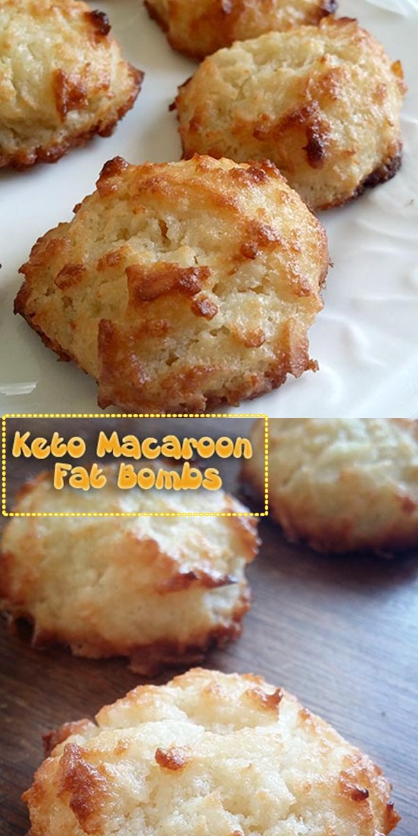 Keto Macaroon Fat Bombs #dessertrecipes