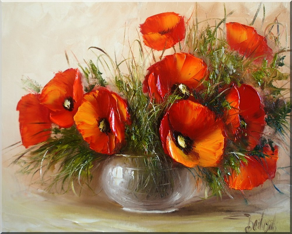 Im genes arte pinturas cuadros decorativos incre bles - Fotos jarrones con flores ...