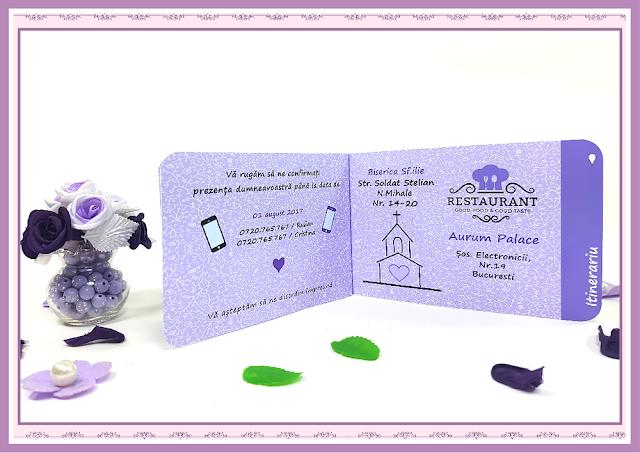 Invitatii Nunta Poveste de Nunta 3