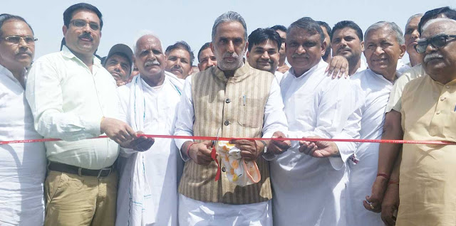 Modi's Minister Krishna Pal Gujjar inaugurated the elevated bridge in Hodal