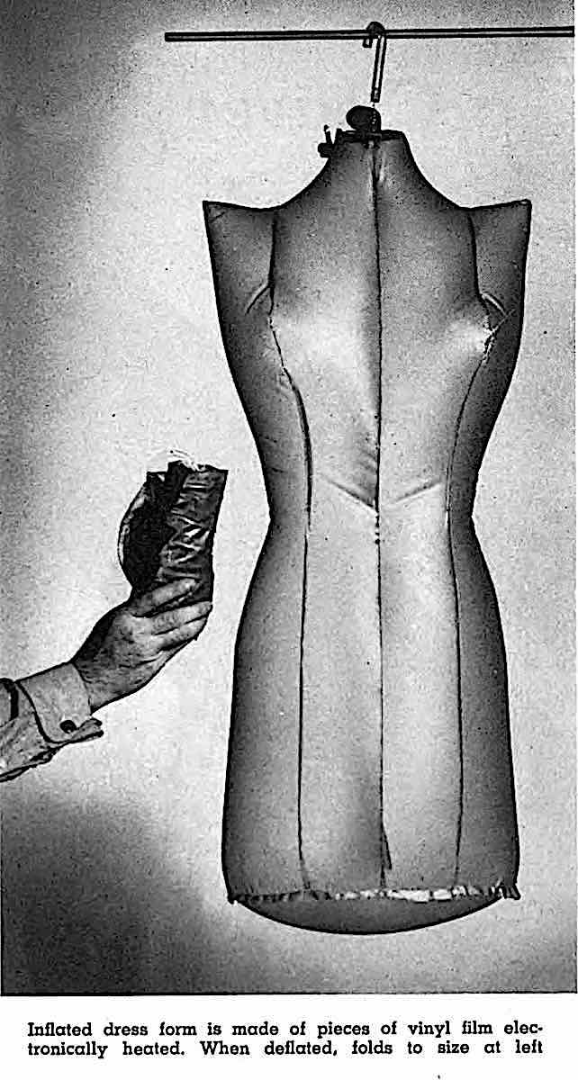 a 1948 inflatable mannequin