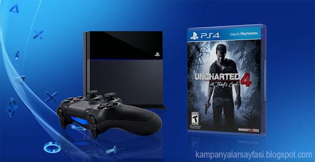Playstation 4  + Uncharted 4 Oyun Paketi