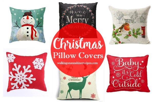 Pillow Covers: How to Decorate for Christmas from Walking on Sunshine Recipes
