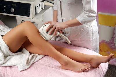 A woman getting Kaya Laser Hair Removal
