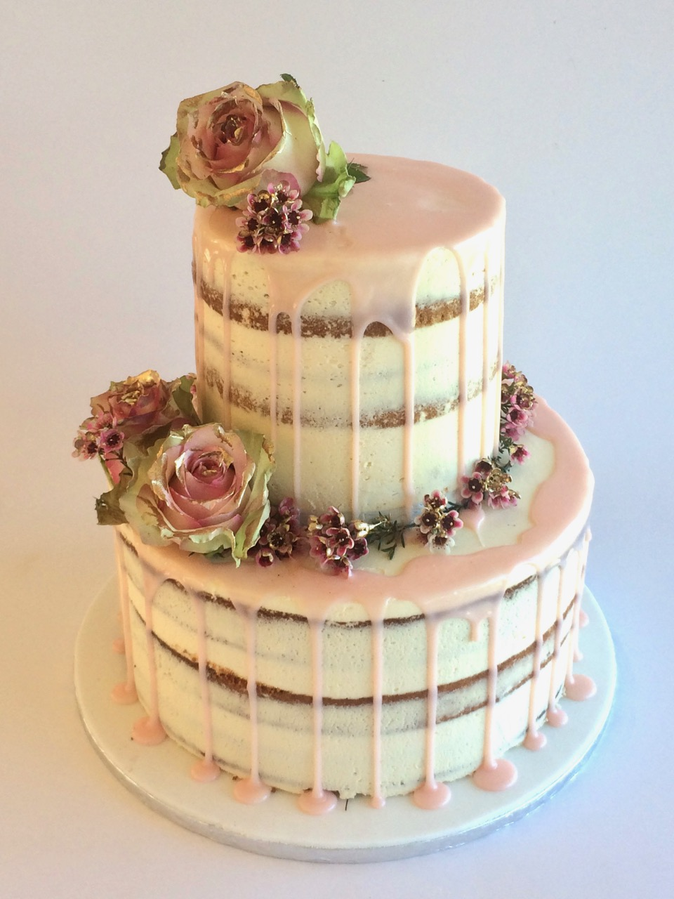 Rozanne S Cakes Soft Pink Chocolate Drip Wedding Cake