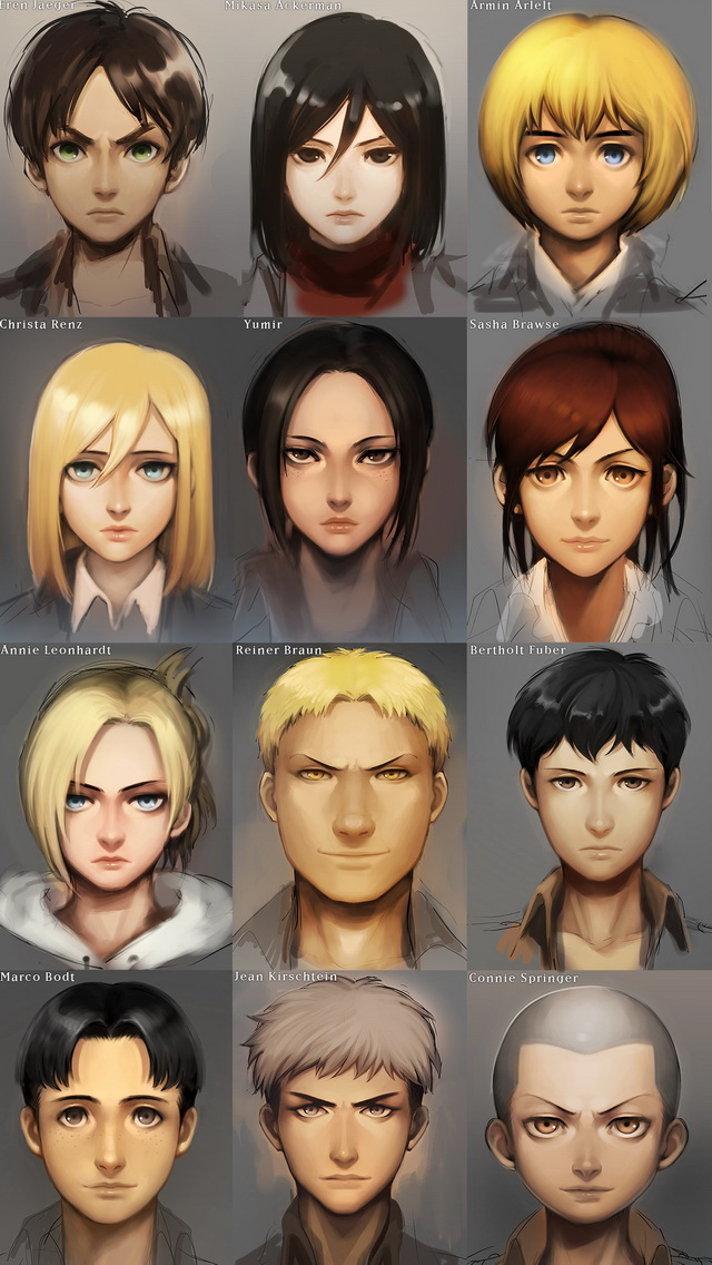 Iphone 5 Wallpapers Gallery Shingeki No Kyojin Characters Iphone 5 Wallpaper