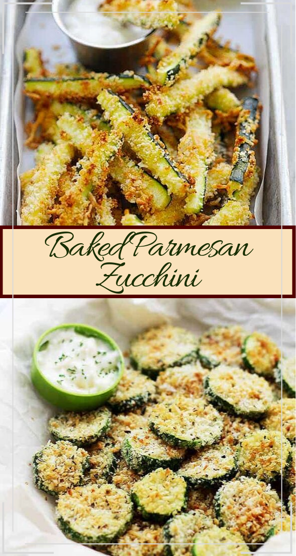 Baked Parmesan Zucchini #vegan #vegetarian #soup #breakfast #lunch