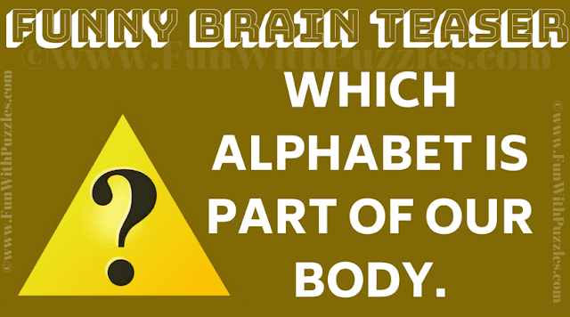 Which alphabet is part of our body?