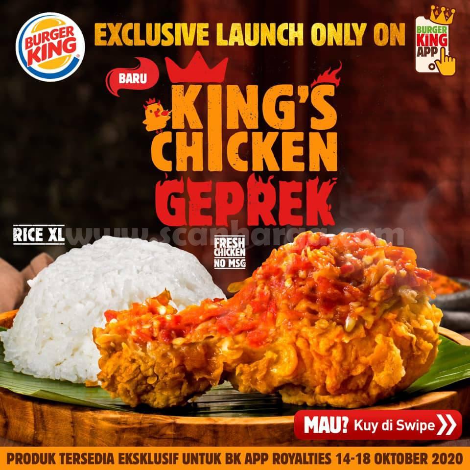 Promo Burger King Menu Baru Kings Chicken Sambel Khusus Berlaku Di BK App Royalties