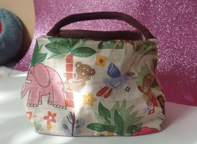 Nylon Color Spliced Animal Prints Tote Bag