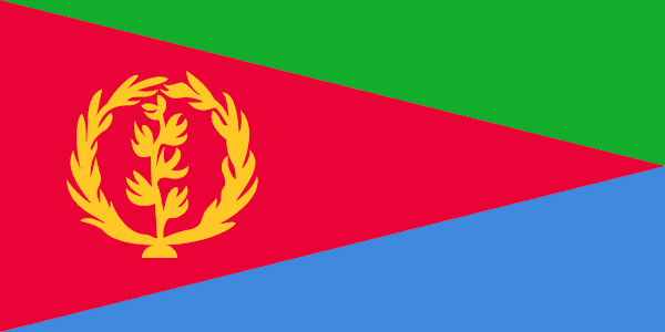 Logo Gambar Bendera Negara Eritrea PNG JPG ukuran 600 px